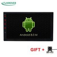 2G+32G Universal 2 din Android 8.0 Car DVD player GPS+Wifi+Bluetooth+Radio+Quad Core 7 inch 1024*600 screen car stereo radio FM