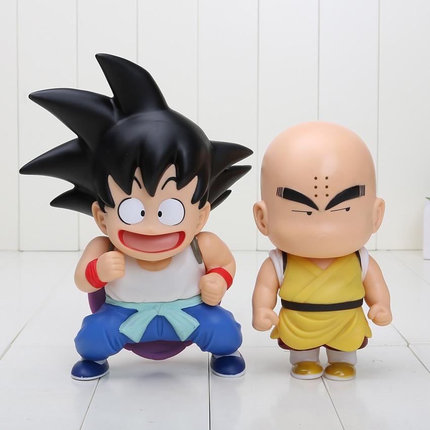 Anime PVC Figures DRAGON BALL Z Son Goku Kuririn Krillin Action Figure Toy 2pcs