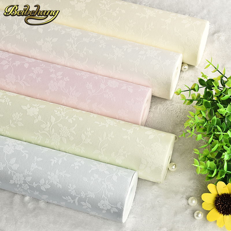 beibehang small floral rustic wallpaper rolls TV background wall paper girls room papel de parede wall paper home decor behang недорого