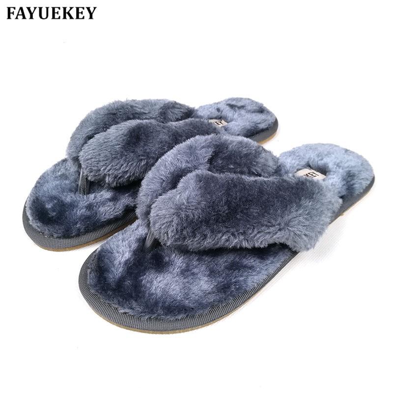 FAYUEKEY 15 kleuren mode lente zomer winter thuis katoen pluche slippers vrouwen indoor  vloer flip flops platte schoenen meisjes cadeau