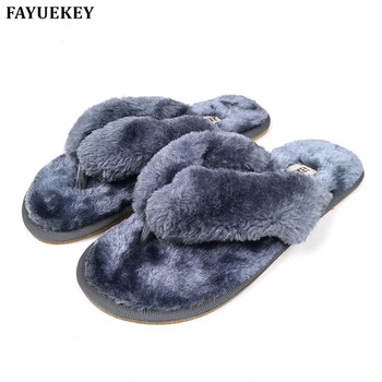 FAYUEKEY 2020 New Fashion Spring Summer Winter Home Cotton Plush Slippers Women Floor Flip Flops Zapatos De Mujer Flat Shoes