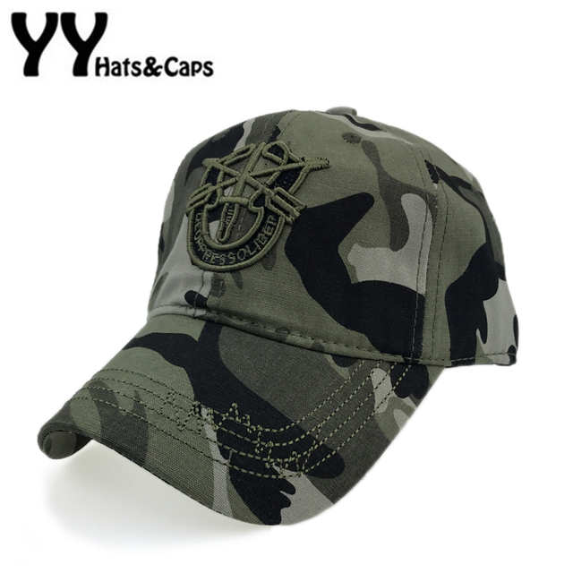 6b92a8a7001 Men Tactical Army Baseball Caps Cotton Special forces Hat Women Navy Seal  Army Camo Cap Fitted Snapback Camouflage Gorra YY17198