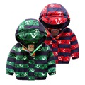 2 color Warm Boys baby Cartoon anchor design Add wool cotton-padded jacket children warm hooded coat wholesale 2016