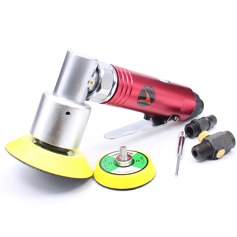 YOUSAILING 2 3 Air Sander Polishing Machine Eccentric Sander 90 Degree Pneumatic Polisher Tool Free Shipping 4 inch disc type pneumatic polishing machine 100mm pneumatic sander sand machine bd 0145
