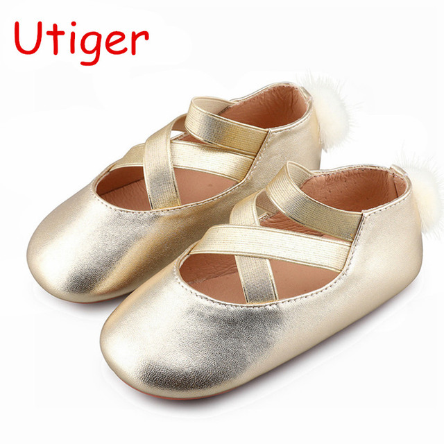 b00ee57d0 Baby Girl Shoes Genuine Leather Flat Silver Ballet Pump Children Shoes  Toddler Brand Black Strap Kids Sneaker Summer Spring