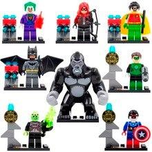 16pcs/lot DLP9013 Super Heroes Avengers Minifigures Green Lantern/Batman/Joker/Grood/Hawkeye Building Blocks Action Figures