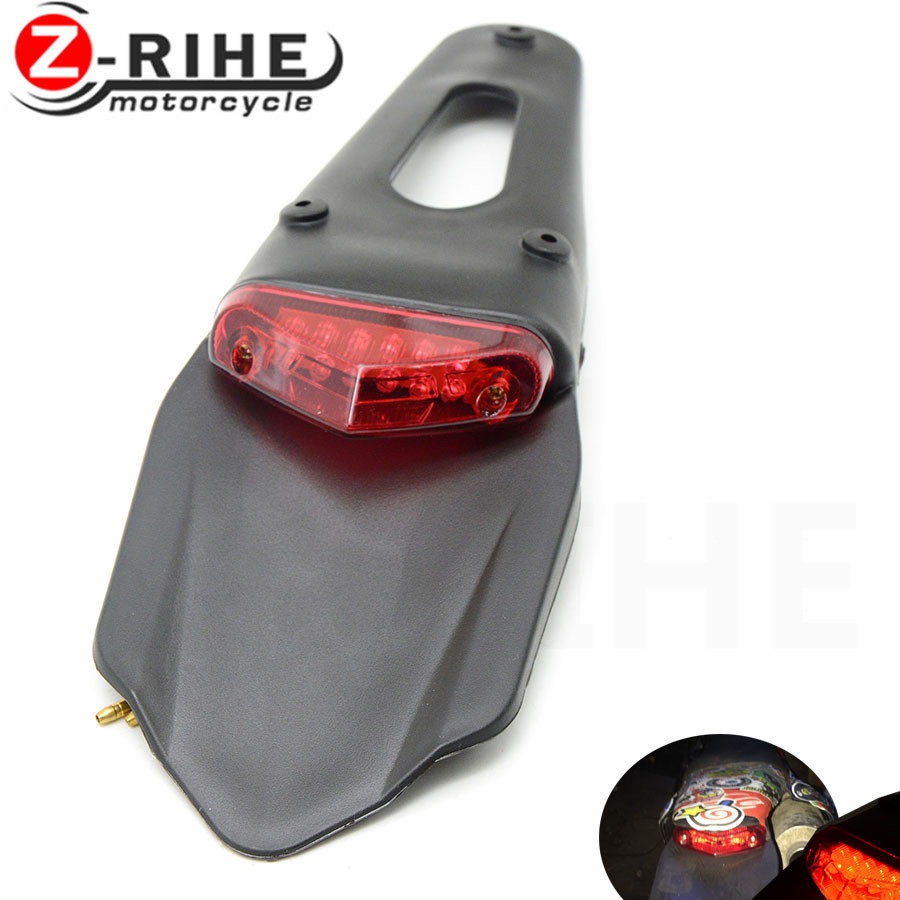 For CRF YZ CR EXC WRF 250 400 426 450 Motorcycle Light Enduro Trial Bike 12 LED Motorbike Brake Stop Rear rear fender Tail Light|  - title=