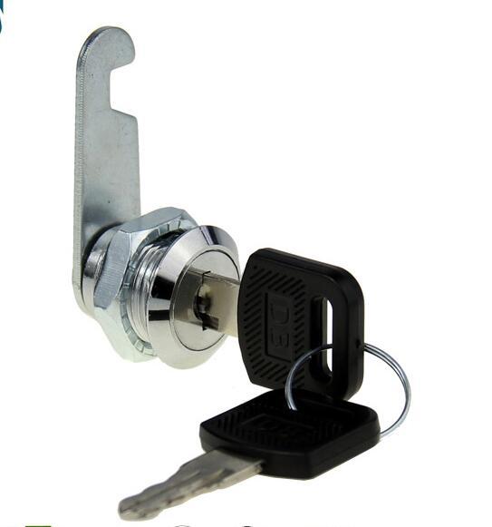 200 pièces DHL rapide armoire verrouillage 18mm Dia fil 16mm Effetive longueur cylindre came serrure avec clés