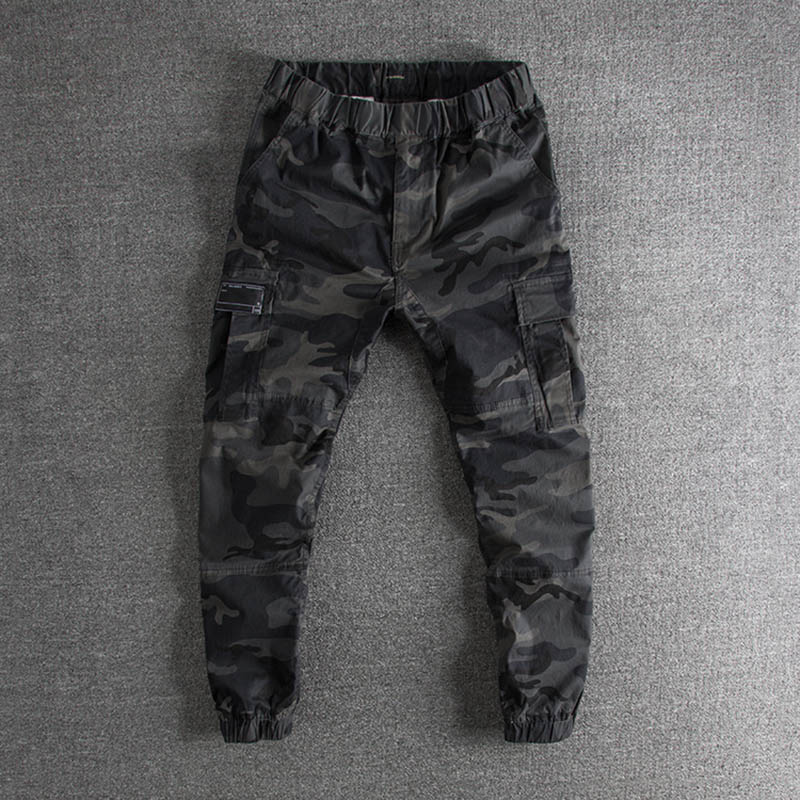 New type of washed old overalls, multi bagged pants, foreign trade, original single man casual trousers, leggings and trousers