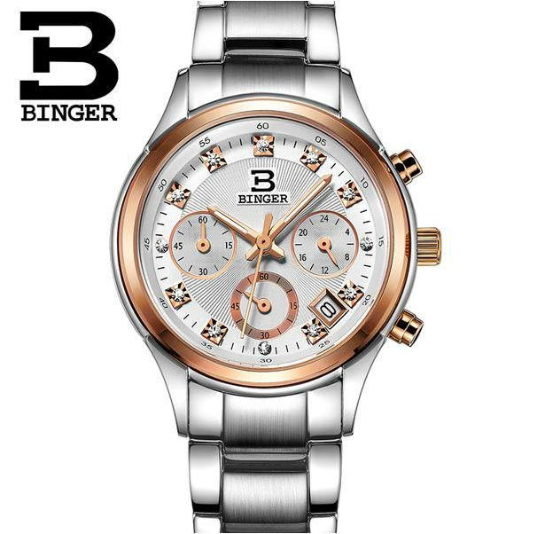 Dress Watches For Women Fashion Wrist Rhinestone Men And Women Couple Watch Binger Watch Men 2015 Relogio Feminino