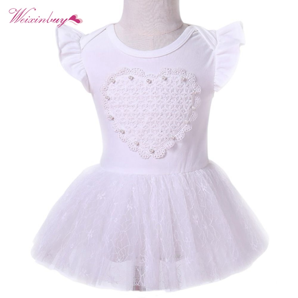 WEIXINBUY New Born Baby Girls Infant Dress&clothes Summer Cute solid Vestidos