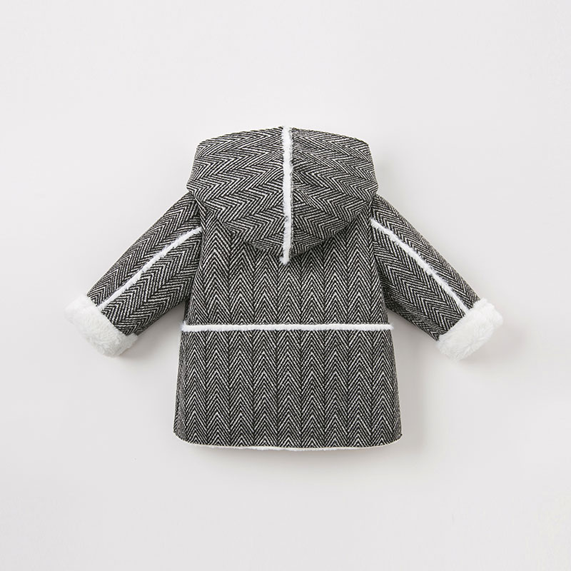 Image 3 - DB8706 dave bella baby boy jacket children outerwear fashion coat black white coatDown