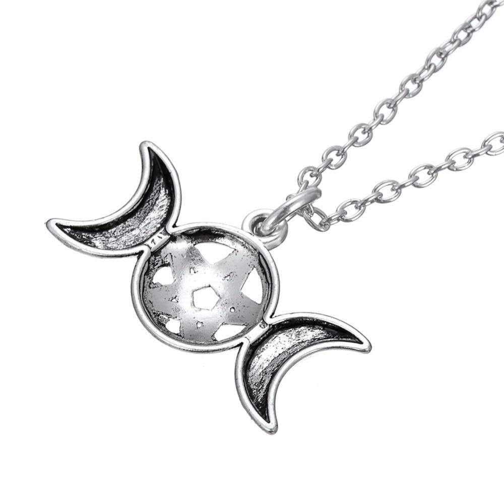 Redwap Triple Moon Goddess Wicca Pentagram Magic Amulet Talisman - Նորաձև զարդեր - Լուսանկար 3