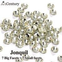 Best Quality 1440 Pcs SS16 Glass Material Jonquil Original 7 Big 7 Small 14 Facets Hotfix