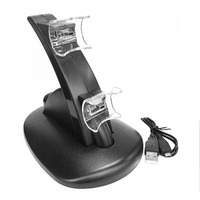 Mini LED Light Quick Dual USB Charging Dock Stand Charger For PlayStation 3 For PS3 Controller