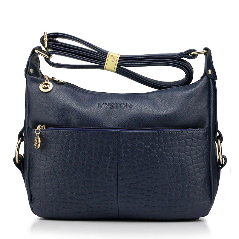 Women's Genuine Leather Handbags All-match Shoulder CrossBody Bags Lady Fashion Alligator Messenger Bag Hobos Women Bags