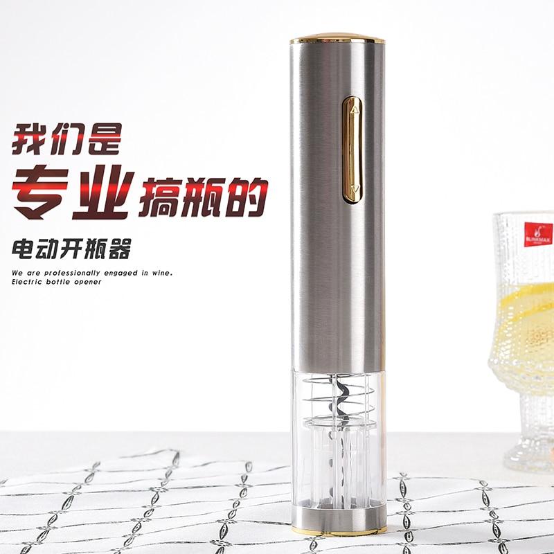 b7b56c8836e Abridor de garrafa de vinho elétrico rápido conjunto de carregamento tipo  de aço inoxidável garrafa de vinho abridor de Vinho automática