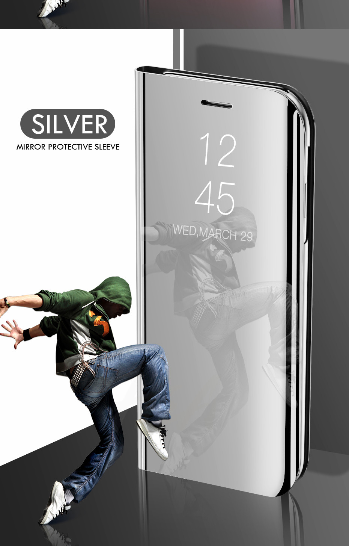 HTB1FvGeainrK1Rjy1Xcq6yeDVXaw H & A Clear View Smart Spiegel Telefon Fall Für Samsung Galaxy S9 S8 S7 S6 Rand Plus Hinweis 8 9 für A3 A5 A7 A8 2017 J3 J7 2018 Fall