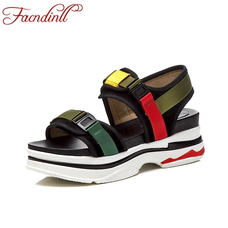 FACNDINLL fashion summer flat shoes woman platform sandals 2018 new wedges low heels open toe women pink casual date sandals facndinll new women summer sandals 2018 ladies summer wedges high heel fashion casual leather sandals platform date party shoes