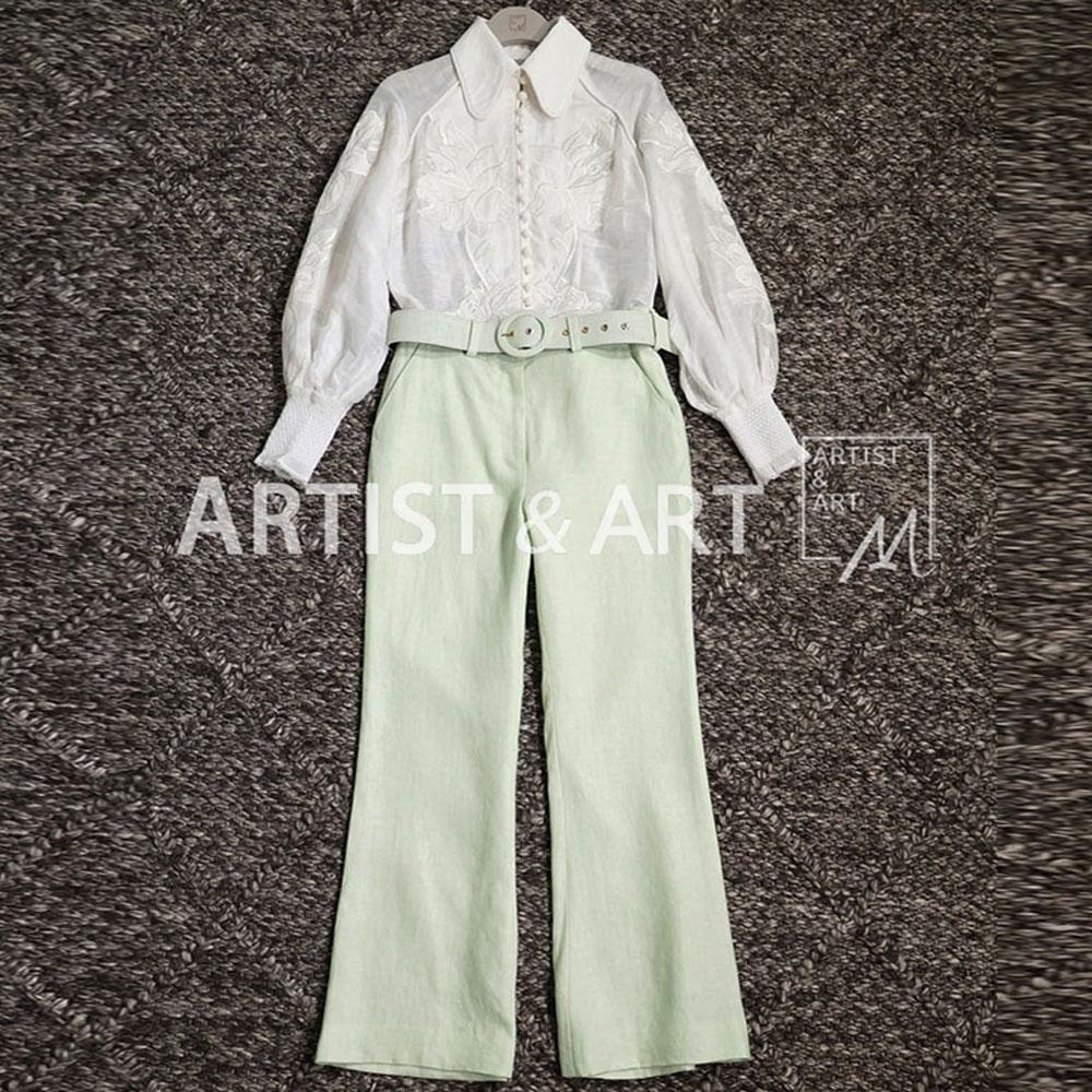 Moda Pista 2019 Pantalones De Nuevo Mujeres Color Diseñador Alta Rojo Las Dama Oficina Cinturón Roosarosee Ropa Verano Final fq7pn1xH