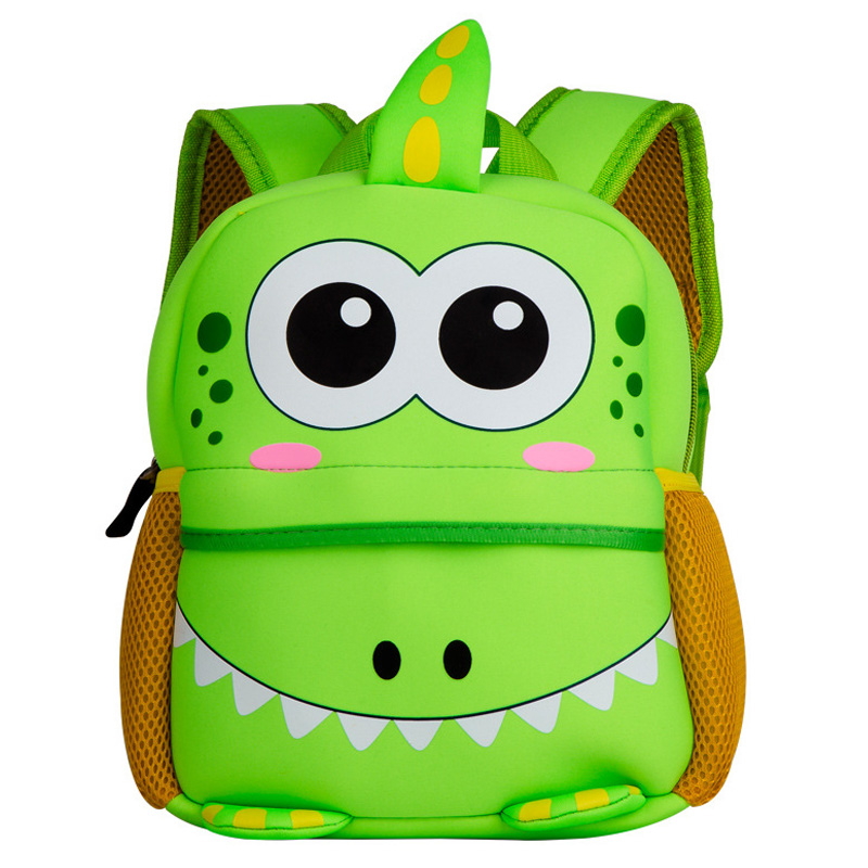 Cute Kids Toddler School Bags 3D Cartoon Dinosaur Backpack Neoprene Kindergarten Schoolbag Girl Boys Bag Children Backpacks