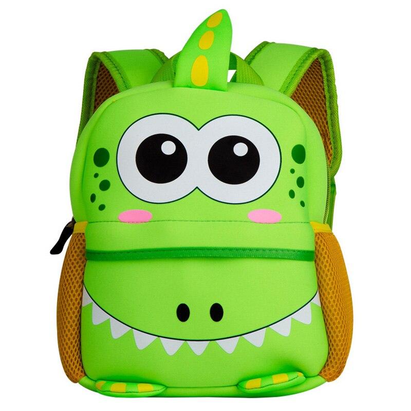 Cute Kids Toddler School Bags 3D Cartoon Dinosaur Backpack Neoprene Kindergarten Schoolbag Girl Boys Bag Children Backpacks