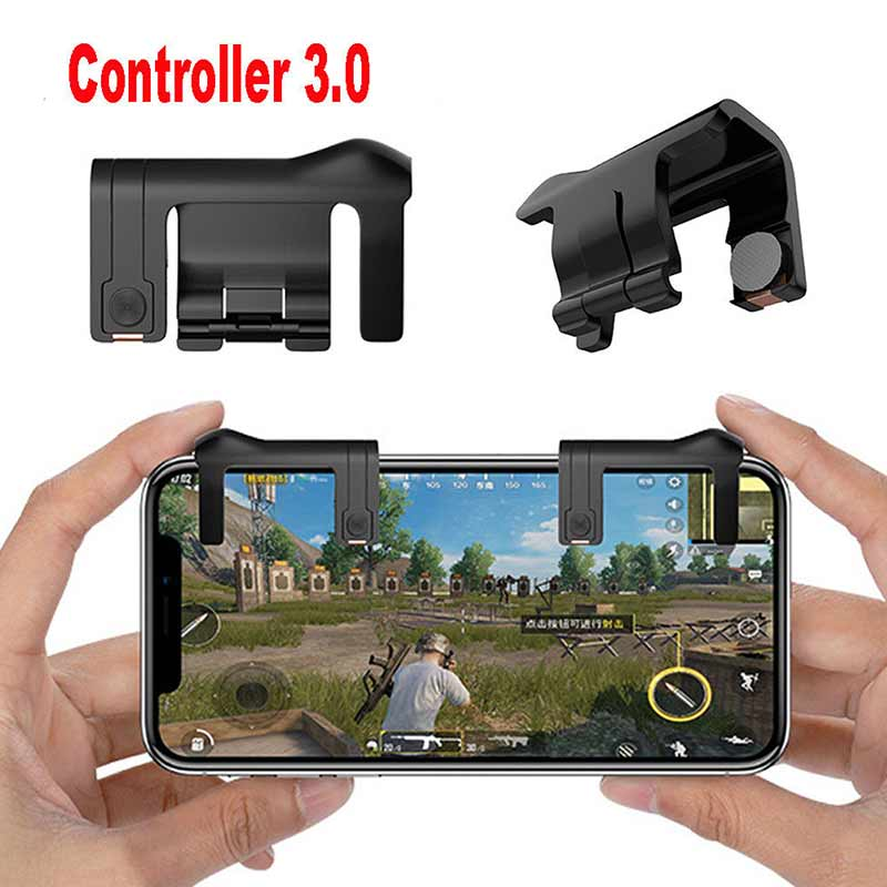 Smart phone Mobile Gaming Trigger L1R1 Shooter Controller Knives out Rules of Survival Mobile Game Fire Button Aim Key For PUBG