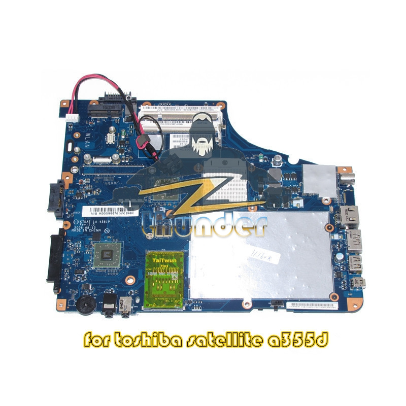 K000069570 KTKAE LA-4581P For toshiba A350 A355D laptop motherboard DDR2 nokotion k000069570 ktkae la 4581p for toshiba a350 a355d laptop motherboard ddr2 free cpu