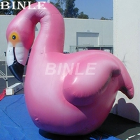 Most popular pink giant inflatable flamingo bird animal model for advertising