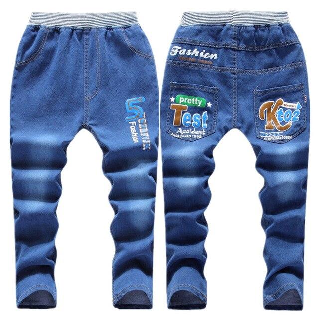 2016 Осенью новый детская одежда мальчик штаны детей джинсы большие девственные девушки в возрасте 6-14 джинсовые брюки