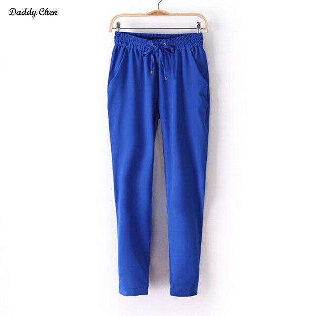 b3a55478f87 Women Harem pants hip hop Loose Stretch Trousers European Style Casual  Female Slack Sweatpants Plus Size Palazzo