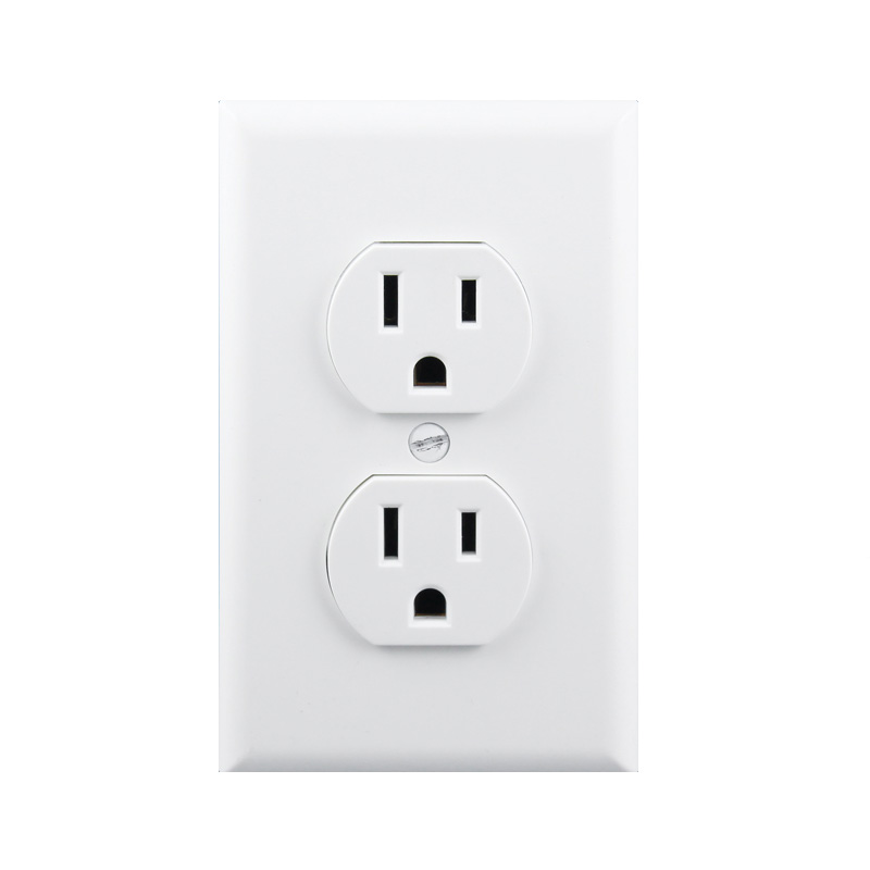 2PCS 125V US Standard Power Socket, White Double Wall points Without Plug 115X70MM