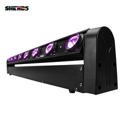 2 unids/lote Barra de luz LED con cabezal móvil RGBW 8x12W perfecto para DJ móvil Fiesta disco discoteca pista de baile Bar