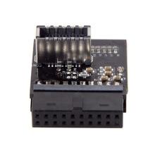 USB 3.1 gniazdo panelu przedniego na USB 3.0 20Pin Header męski przedłużacz adapter do karty głównej