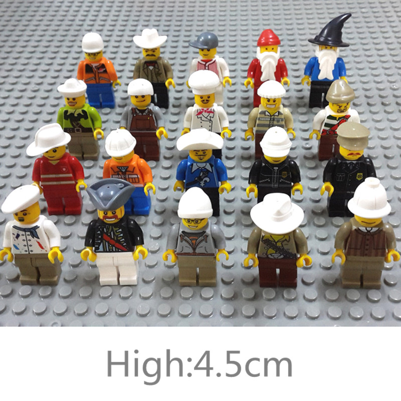 Enlighten 20Pcs/set Human Model Action Figure Toy Kids Compatible Legoe Building Blocks Small Particles Action Figure Toys форма для открытого пирога flexi twist 28см 792834 page 3