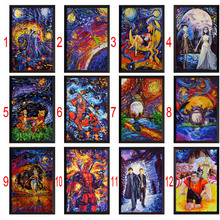 5D DIY Diamond Painting Thor Deadpool  Corpse Bride Cross Stitch Rhinestone Decoration needlework wall picture