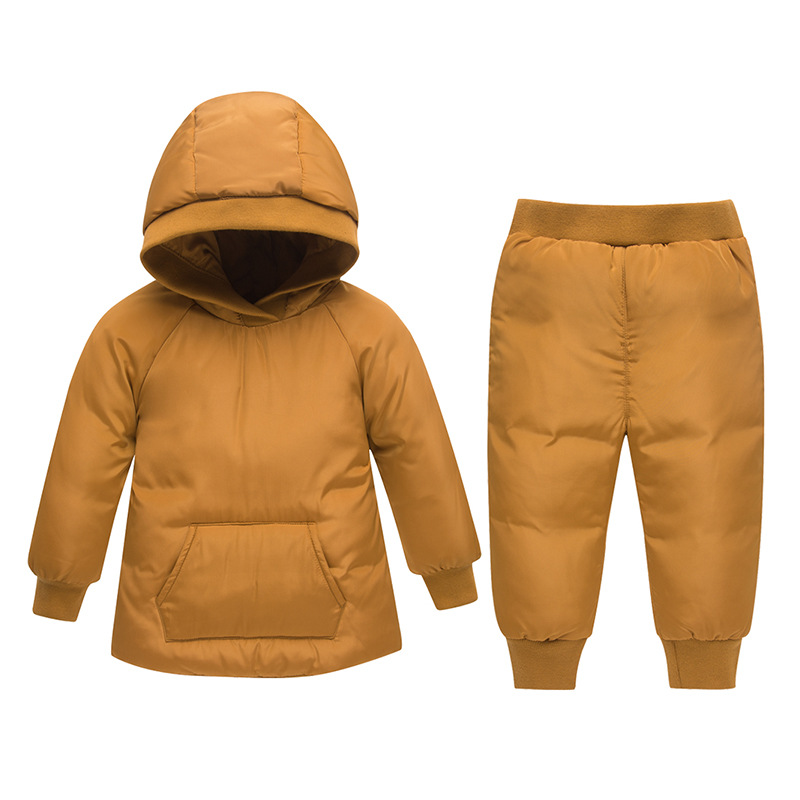 2018 Winter Down Set Jacket for Baby Girl Clothes Children Clothing Sets Boys Parka Hooded Coat Kids Snow Wear Kids Clothes 1-3T children winter jacket for kids girl silver boys hooded coat baby clothing outwear kid parka jackets snow wear meisjes winterjas