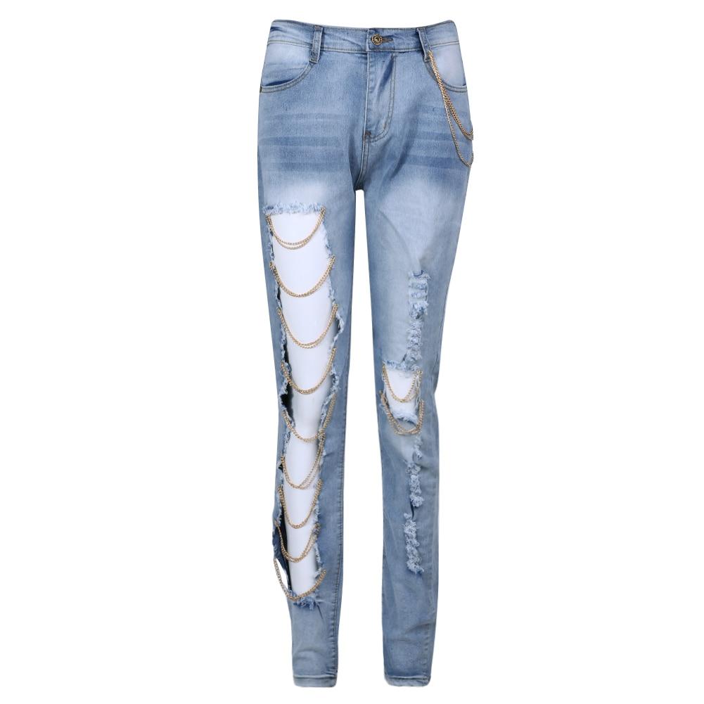 Spring Women Destroyed Jeans Femme Ripped Distressed Slim Denim Pants Boyfriend Jeans For Women Trousers