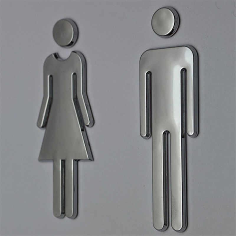 3D DIY женщина и мужчина знак на туалетную дверь Ванная комната Туалет WC знак на дверь для знак на туалетную дверь настенная декоративная наклейка съемная