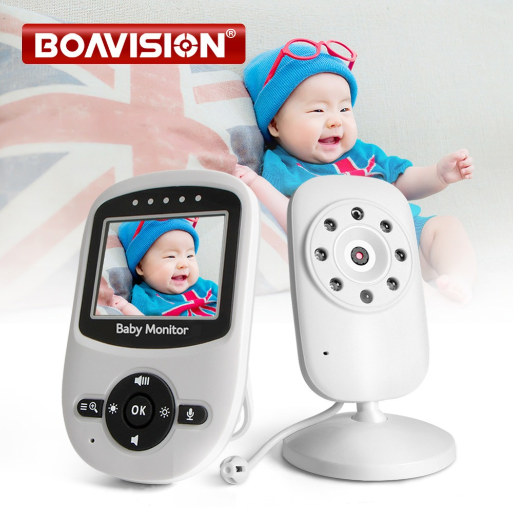Radio Babysitter 2 4 Inch LCD Baby Monitor Sitter IR Night Vision Intercom Lullabies Temperature Monitor