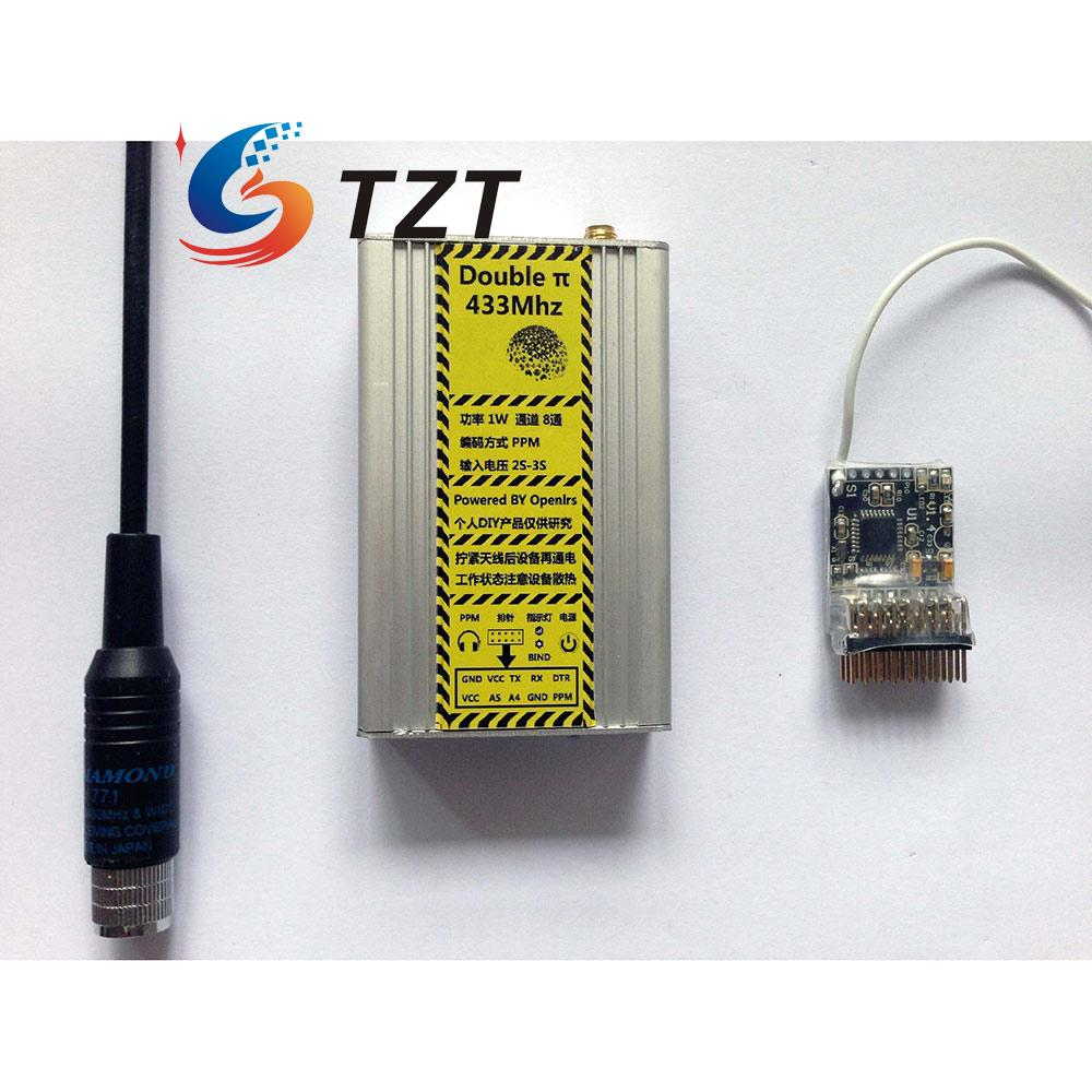 OpenLRSng FPV 433MHz Transmitter Receiver Tx Rx Extended Range Double Pi for RC Drone Quadcopter