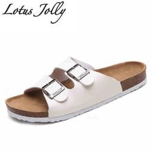 2017 New Summer Cork Slippers Shoes Women Slides Casual Mixed Color Pu Flip Flops Beach Sandals Flat Plus Size 35-45 Sandalias