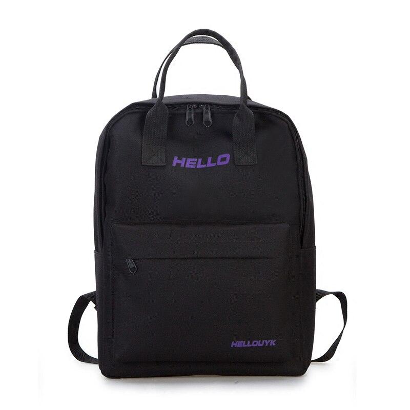 Mode hommes et femmes sac à dos général sac de voyage tendance toile sac à bandoulière simple et pur couleur campus cartable