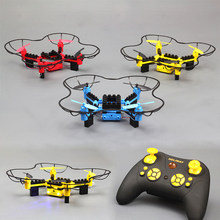 DIY Building block granule assembled rc drone helicopter app wifi camera HD professional 4 axis aircraft set high quadcopter(China)