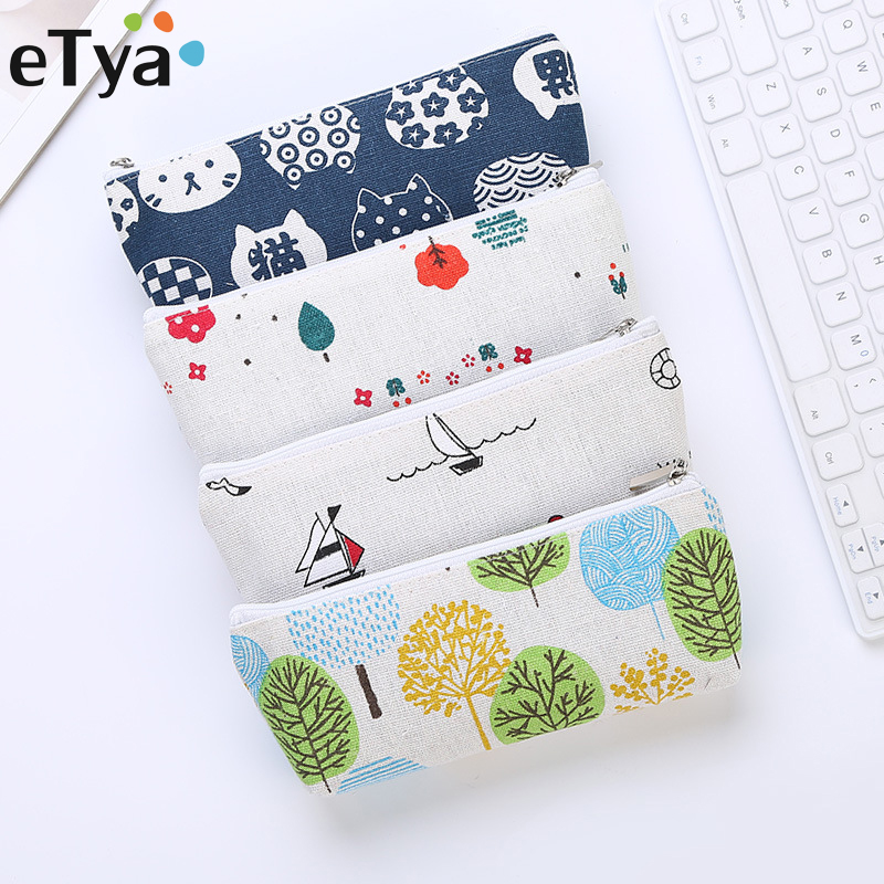 ETya 1PC Women Fashion Small Cosmetic Bag Kids Female Cute Pencil Case Makeup Brush Bag Beauty Organizer Toiletry Bags Pouch