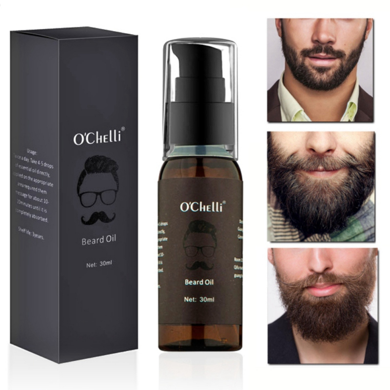 30ml Men Beard Oil Growth Soothing Moisturizing Beard Styling Care Oils Hair Loss Products
