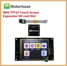 МКС TFT32 v4.0 сенсорный экран + МКС Слот Модуль расширенная SD кард-ридер всплеск ЖК-дисплеев прикосновения TFT3.2 дисплея RepRap TFT монитор