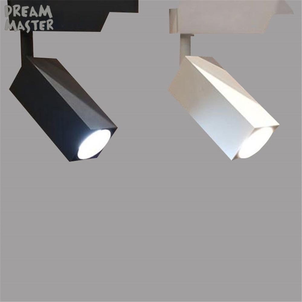 Modern led track spotlights cob rectangle rail lamps adjustable 7w track lighting fixtures for living room shop museum showroom