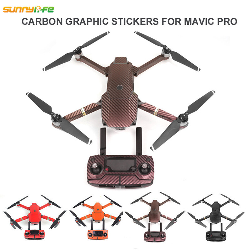 Sunnylife Remote Controller Battery Arm Drone Stickers Carbon Graphic Skin Decals Wrap Fuselage Body Pasters for
