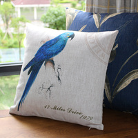 Chinese style ancient bird cotton and linen pillow case fabric